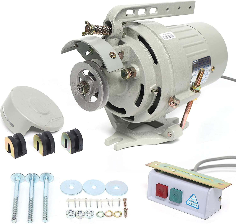 OUKANING Motor de máquina de Coser Industrial de 400 W, Accesorios de máquina de Coser Reemplazo del Motor de la máquina de Coser de 2850 RPM