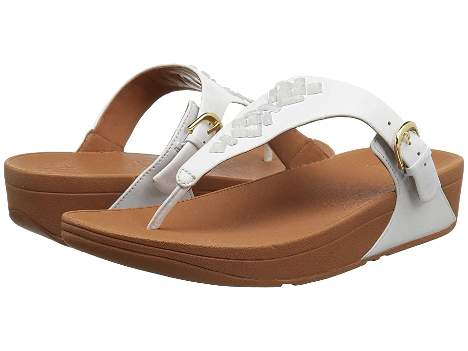 FitFlop The Skinny Toe - Thong Sandals - Crystal (Urban White) Women's Sandals