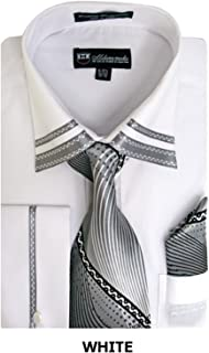 Fashion Shirt with Matching Tie, Hankie & French Cuffs SG28, 10 Collors