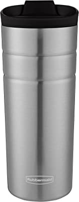 Rubbermaid Leak Proof Flip Lid Thermal Bottle, 16 oz., Black Lid
