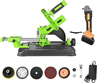 21V Cordless Angle Grinder Tool with Cutting Machine Table Saw adaptor
