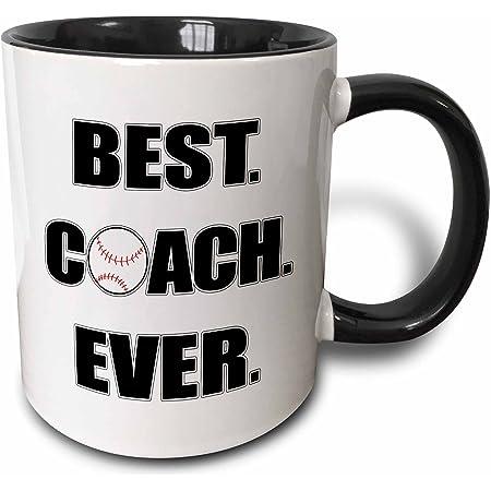 Amazon Com 3drose Baseball Best Coach Ever Mug 11 Oz Black Kitchen Dining