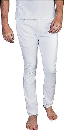 Duc Denim - Jeans Para Hombre - Louis the Liberal - Snow- Slim Fit - Jeans Blancos - Alta Calidad de Mezclilla - Corte Ajustado - Fit Perfecto - Estilo Moderno - Denim - Para Caballero - Skinny - Se Estiran - Mezclilla Elastica - Mezclilla Blanca