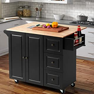 Amazon Com Kitchen Islands Carts Black Kitchen Islands Carts Kitchen Dining Roo Home Kitchen