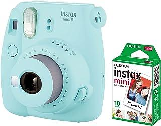 Fujifilm Instax Mini 9 Instant Camera + 1 Pack Film- Ice Blue