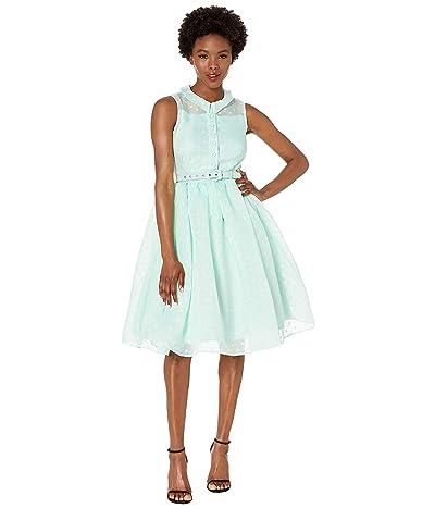 Unique Vintage Mint Dotted Georgia Swing Dress (Mint) Women
