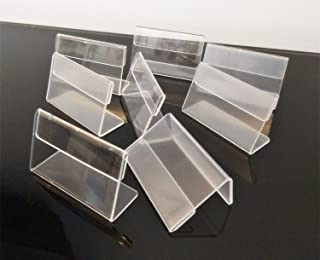 Set of 30PCS L Shape Clear Acrylic Price Card Tag Label Stand, Mini Sign Display Holder,Counter Top Stand 7x4cm