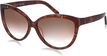 Chloe Brown Gradient Cat Eye Sunglasses