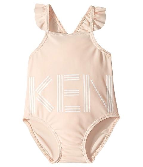 Kenzo Kids One-Piece Ruffled Crisscross Swimsuit (Infant)