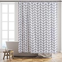 Gutgojo incl 12 anelli per tenda da bagno tipo 2 180 x 200 cm in tessuto lavabile Tenda da doccia antimuffa
