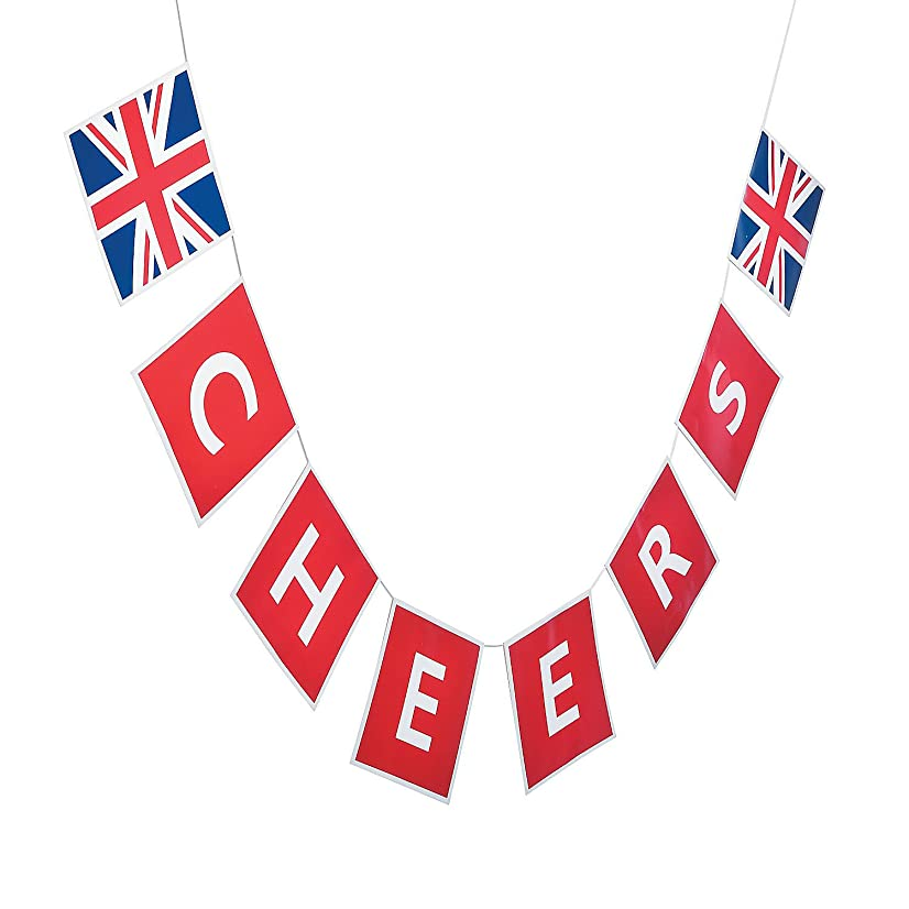 Fun Express - British Party Garland for Party - Party Decor - Hanging Decor - Garland - Party - 1 Piece