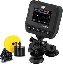LUCKY Fish Finders for Boats Kayak Fish Finder Portable Saltwater Kayak Depth Finder Fishing Wired Transducer with LCD Screen for Sea Fishing Bank Fishing Lake Fishing