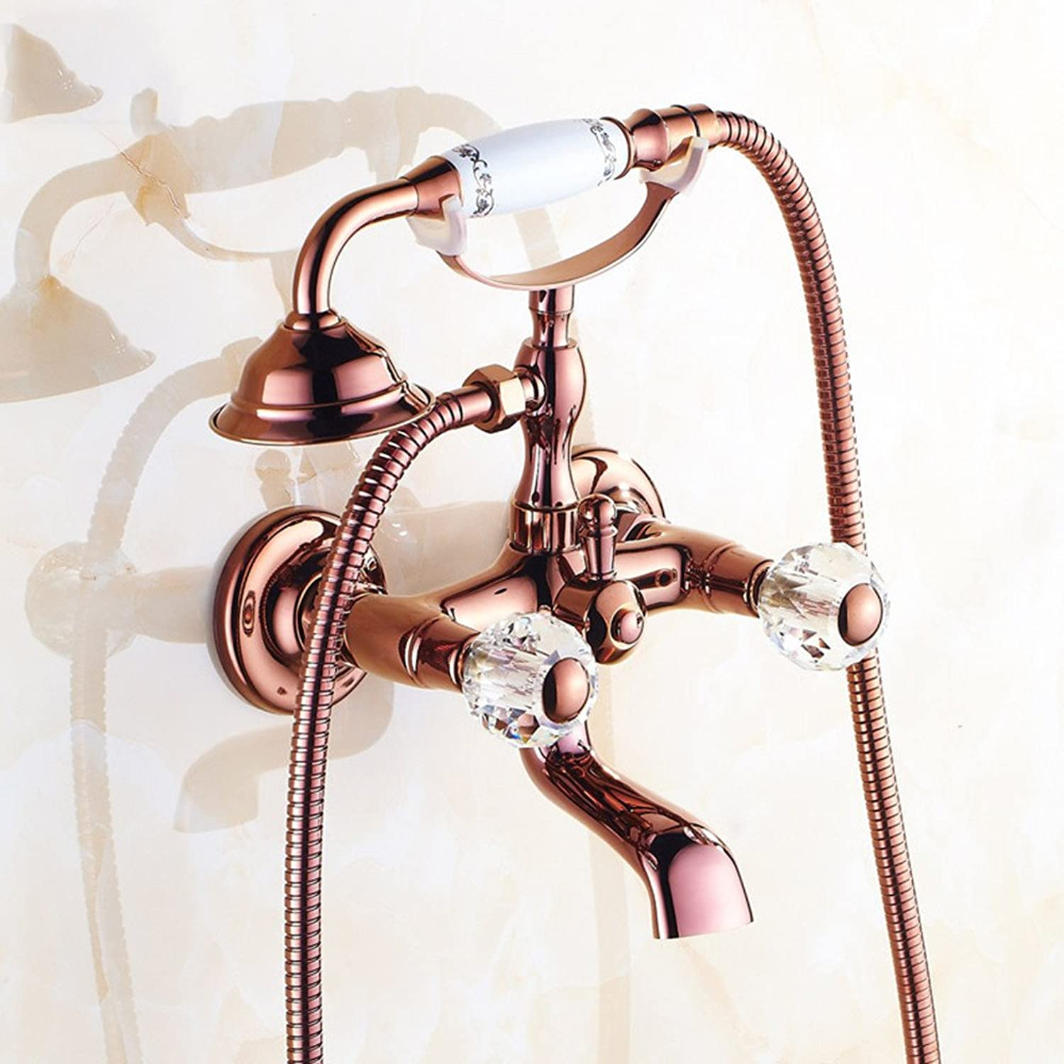 ZQ@QXThe copper-colord pink gold European-style shower kit