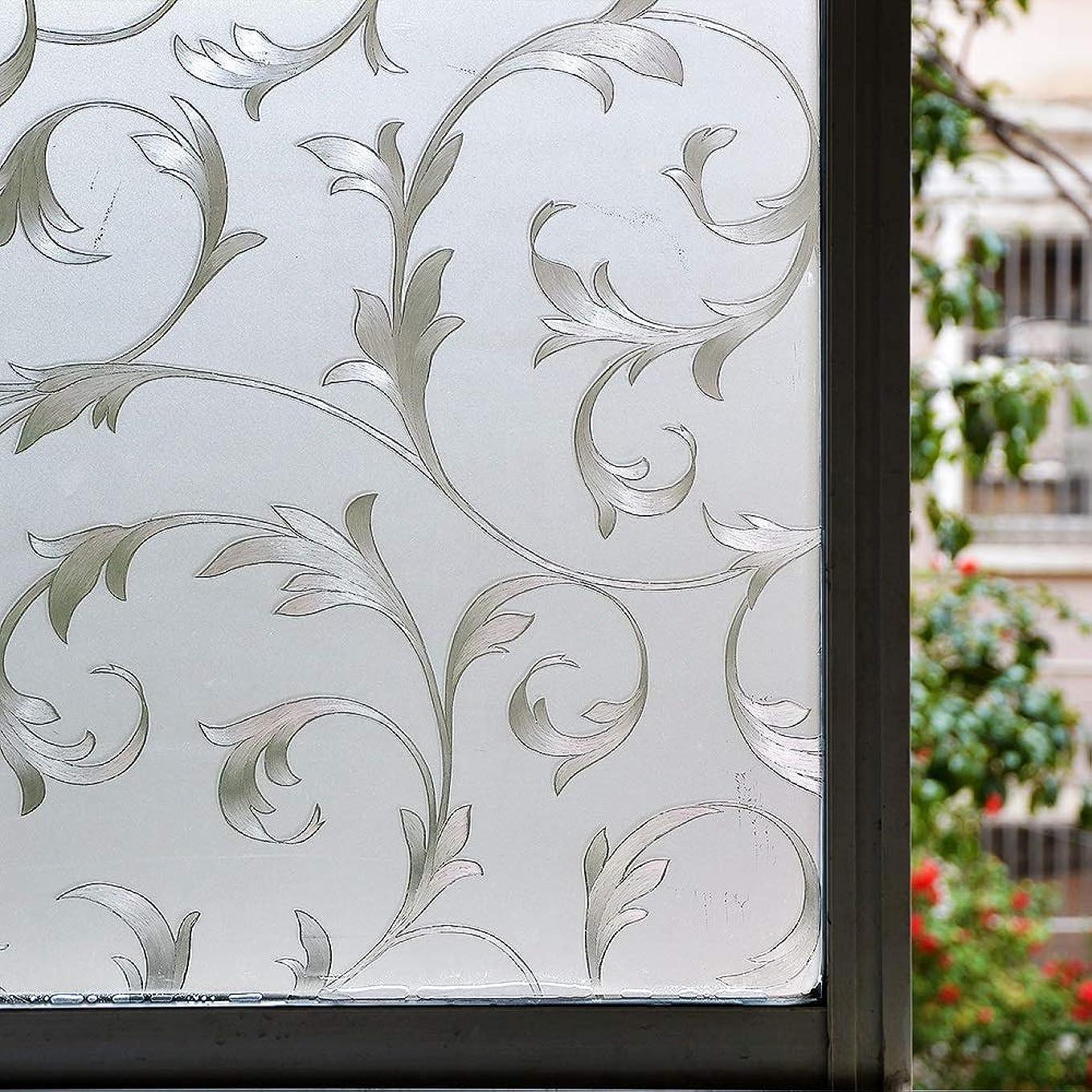 バンジージャンプバランスのとれた見つけた窓用フィルム ノーのり静的装飾プライバシー窓ガラスフィルムの非接着性熱ビニールコントロールアンチ紫外線吸収ガラスのステッカー HYFJP (Color : 1, Size : 60 x 100 Cm)