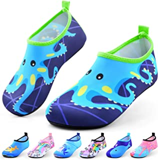 Sunnywoo Water Shoes for Kids Girls Boys,Toddler Kids Swim Water Shoes Quick Dry Non-Slip Water Skin Barefoot Sports Shoes...