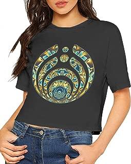 Bassnectar T Shirt Women Crop Top Blouse Dew Navel Shirt Round Neck Cotton Tee