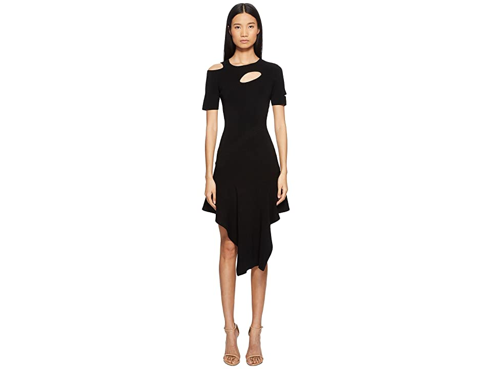 YIGAL AZROUEL Cut Out Asymmetrical Dress (Jet) Women