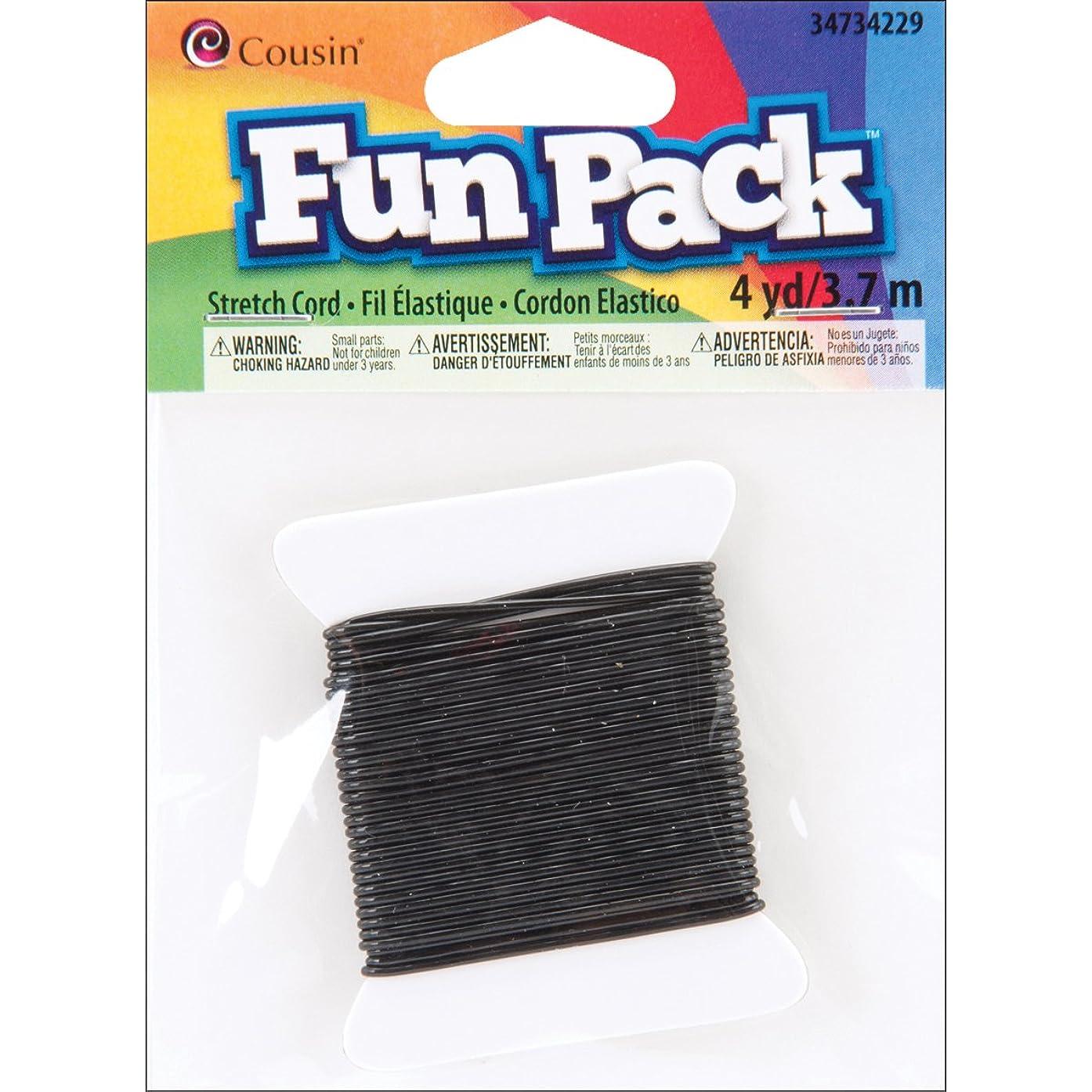 Cousin Fun Packs 4-Yard Stretch Cord, Black