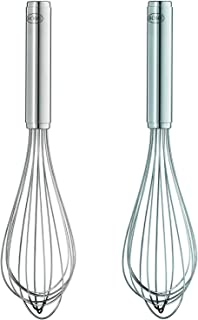 Rösle Stainless Steel Kitchen Utensils Set: Hotel Egg Whisk 11.8-Inch, Hotel Egg Whisk 9.8-Inch