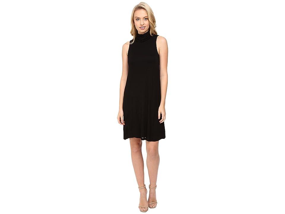 kensie Sheer Viscose Tee Dress KS8K7271 (Black) Women
