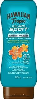Hawaiian Tropic Island Sport Ultra-light Sport Sunscreen Lotion, SPF 30, Broad Spectrum Protection, 240mL
