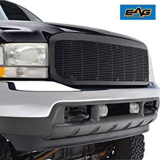 EAG Black Billet Grille+Shell Compatible with 99-04 Ford Super Duty F250/F350