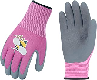 Vgo 1-Pair Age 3-5 Kids Latex Gardening Gloves Work Gloves (XXXS, Purple, KID-RB6013)
