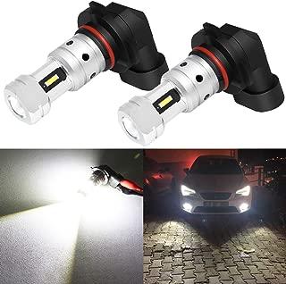 Phinlion 3800 Lumens H10 9145 LED Fog Light Bulb Super Bright CSP 12V 9040 9045 9140 9155 LED Bulbs Replacement for Car Truck Fog Lights Lamps,  6000K Xenon White