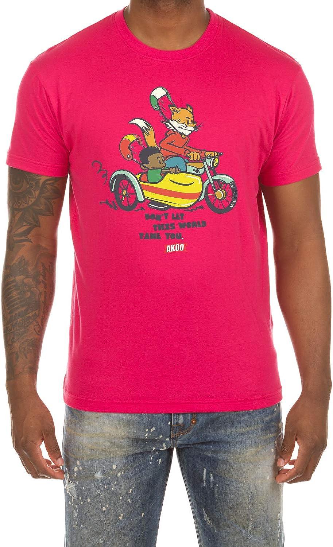 ハイクオリティ Akoo お中元 Men's Slick Ride Short Sleeve Tee Cotton Stylish Classic Fi