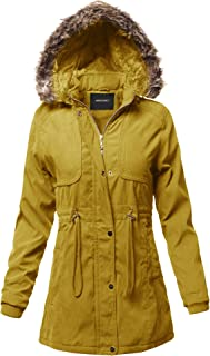 Awesome21 Women's Casual Sherpa Lining Fur Trimmed Hoodie Long Sleeves Jacket