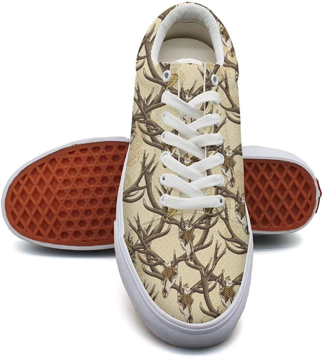Women Yellow Deer Skulls Elk Animal Sneakers Fashion shoes