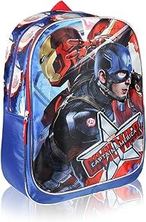 Mochila Captain America Azul Marino
