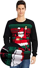 TUONROAD 3D Graphic Ugly Christmas Sweater Funny Holiday Sweater for Men & Women