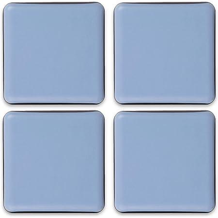 Filzada® 4x Almohadillas de Teflón para Muebles autoadhesivo - 40 x 40 mm (cuadrado) - Deslizadores profesionales de muebles/deslizadores de alfombras PTFE (Teflón)