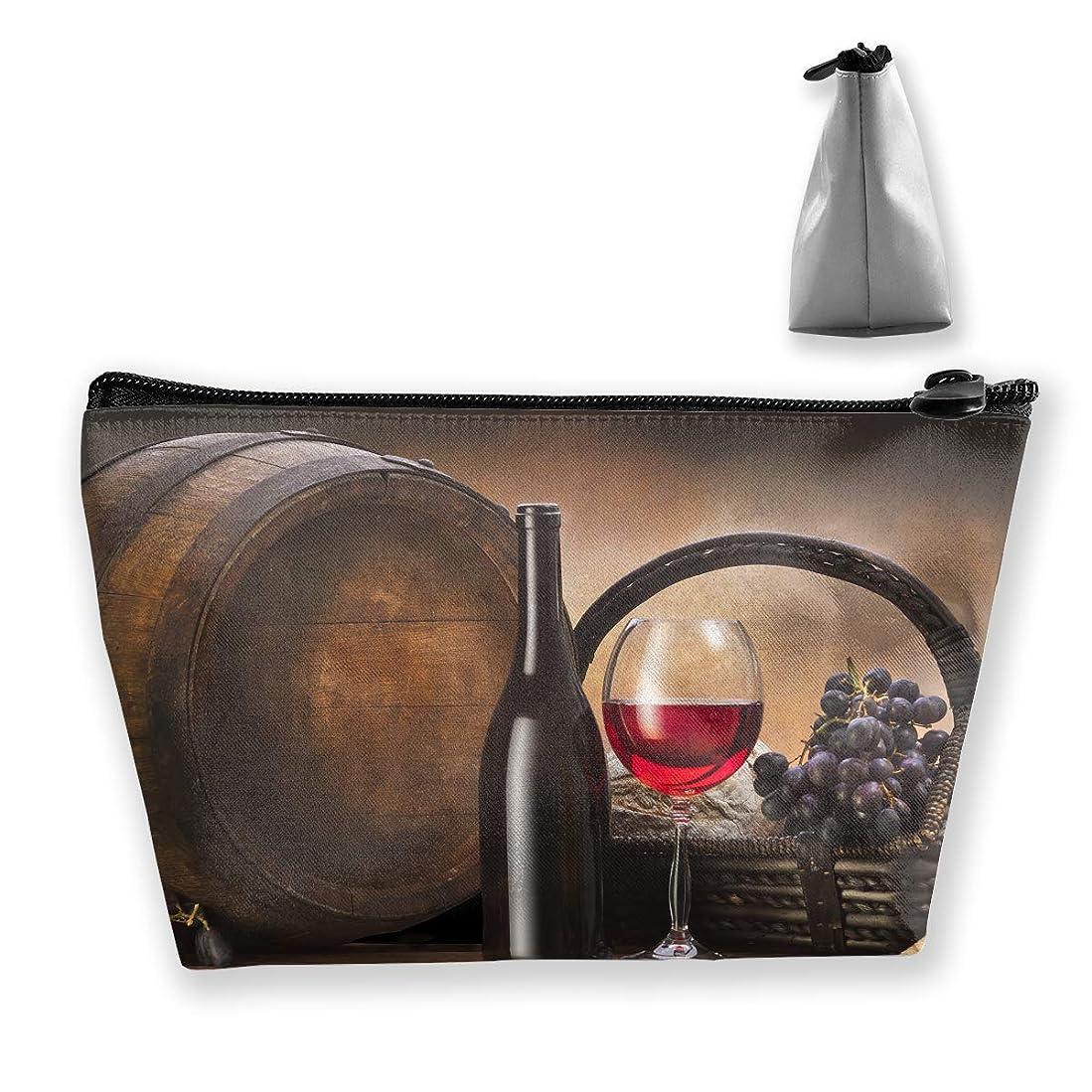 ヘルシーステッチ拡張台形 レディース 化粧ポーチ トラベルポーチ 旅行 ハンドバッグ ワイングラス コスメ メイクポーチ コイン 鍵 小物入れ 化粧品 収納ケース