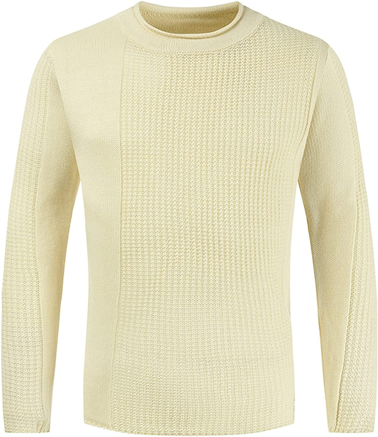 UBST Knitted Sweater for Mens, Fall Winter Basic Crewneck Pullover Solid Warm Casual Bottoming Jumper Tops