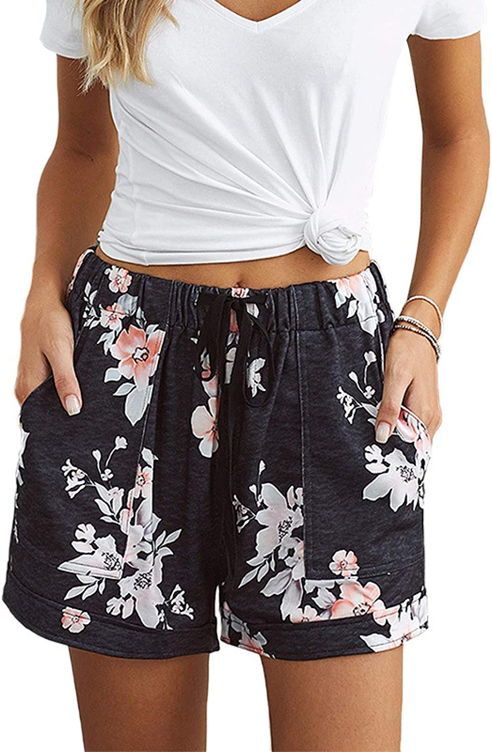 Zestion Women Our shop OFFers the best service New Free Shipping ´s Summer Casual Camouflage High Shorts Printed