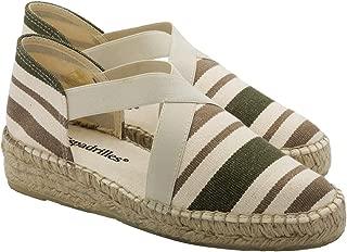 2 Espadrilles from Barcelona - Sandals Shoes Handmade in Spain - Espadrilles Heel Montse