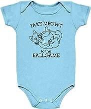 Strange Cargo Take Meowt to The Ballgame Funny Cat Infant Baby One Piece Bodysuit