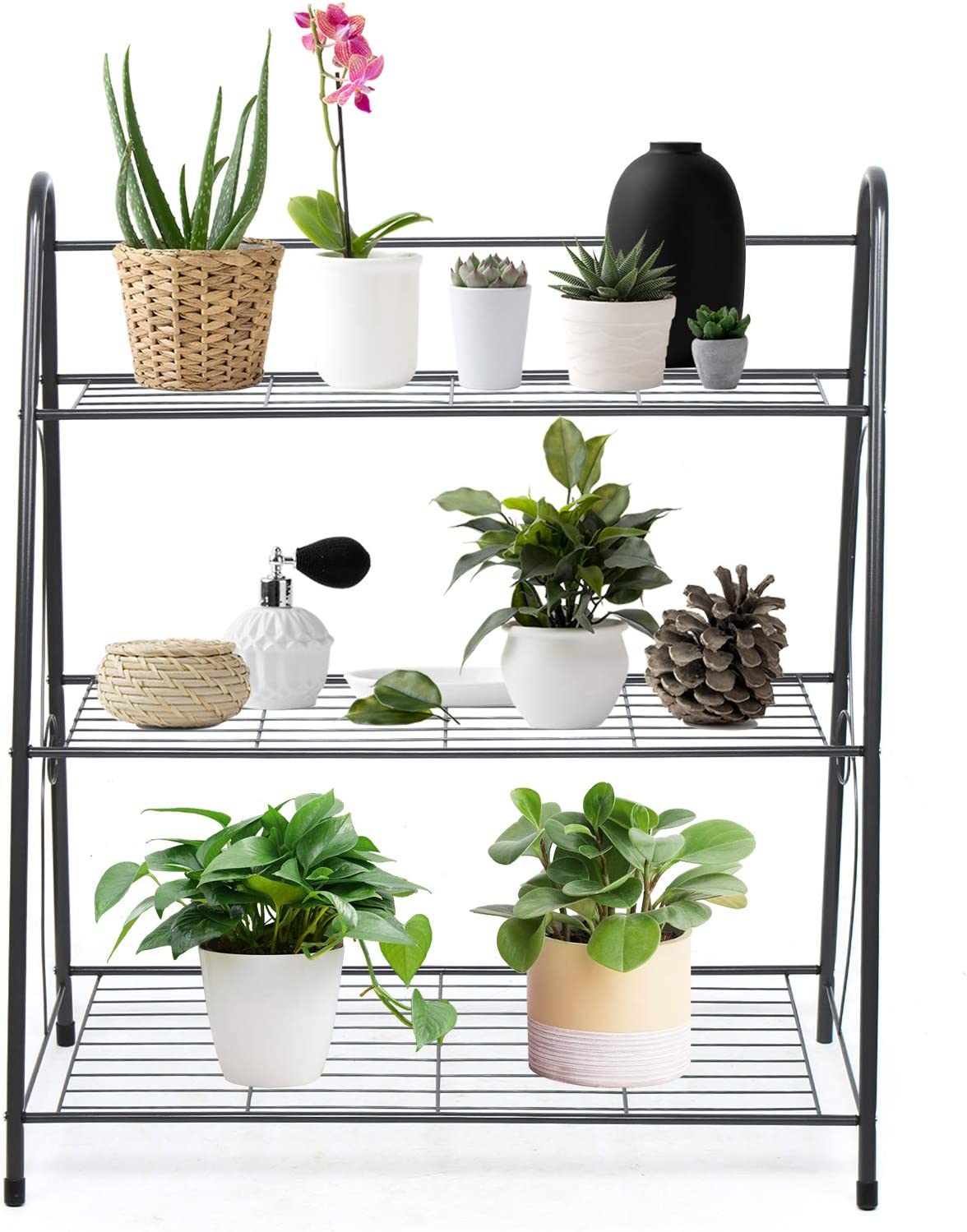 3-Tier Metal Challenge the lowest price of Japan ☆ Plant Stand Omaha Mall 24.8x12x28