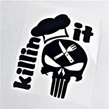 Punisher Killin It   Instant Pot Black Vinyl Decal