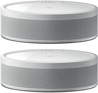 Yamaha 2 Pack MusicCast 50 WX-051 70W Wireless Speaker, Alexa Voice Control, White,