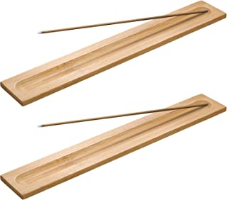 Boao 5 Pieces Bamboo Wood Incense Sticks Holder Incense Burner Ash Catcher, 9.06 Inches..