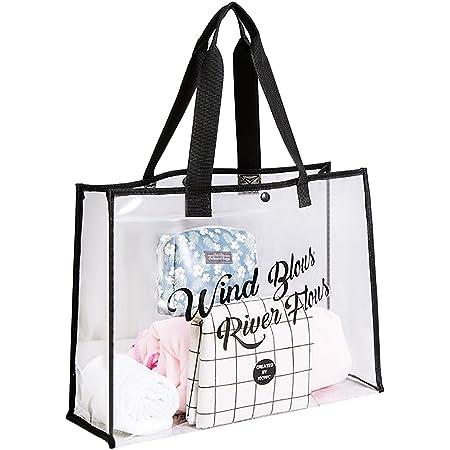 Transparent Umhängetasche Tragetasche Strandtasche aus PVC Wasserdicht Damenhandtaschen Schwimmentasche Tragbare Reisen Daypack für Frauen Mädchen