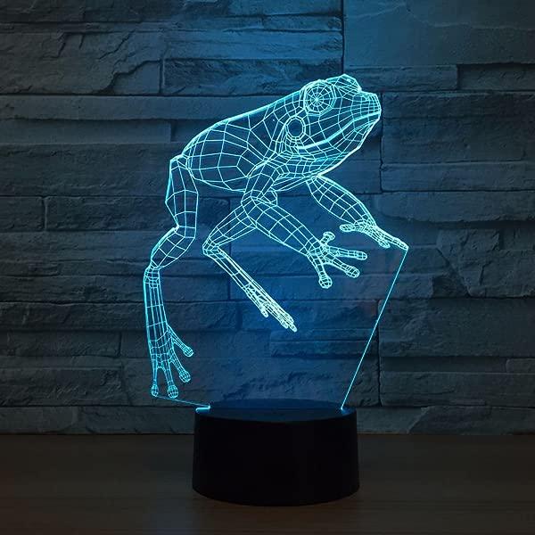 Kabeto 青蛙小夜灯 3D led灯玩具卡通礼物 7 种颜色改变桌子台灯小夜灯儿童儿童喜爱的聚会办公室装饰