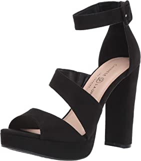 Chinese Laundry Women's Riddle Heeled Sandal black suede 9 M US