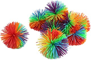 """WeFidget 10 Pack 2.4"""" Stringy Balls, Great Sensory Toy, Bouncy Ball, Fun Party Favor, Monkey Stringy Balls (Multicolored)"""