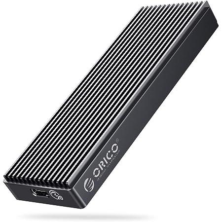 【20Gbps】ORICO USB-C NVMe M.2 SSDケース 20Gbps超高速 M-Key/B&M Key(Nvmeのみ)に対応 USB 3.2 Gen2 x2 外付けケース UASPサポート2230/2242/2260/2280 SSD対応 M.2 SSD 変換アダプタ エンクロージャ ケース グレー M2PAC3-G20