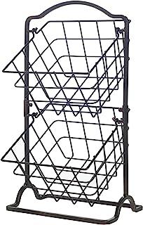 Gourmet Basics by Mikasa General Store 2 Tier Hanging Basket, Antique Black