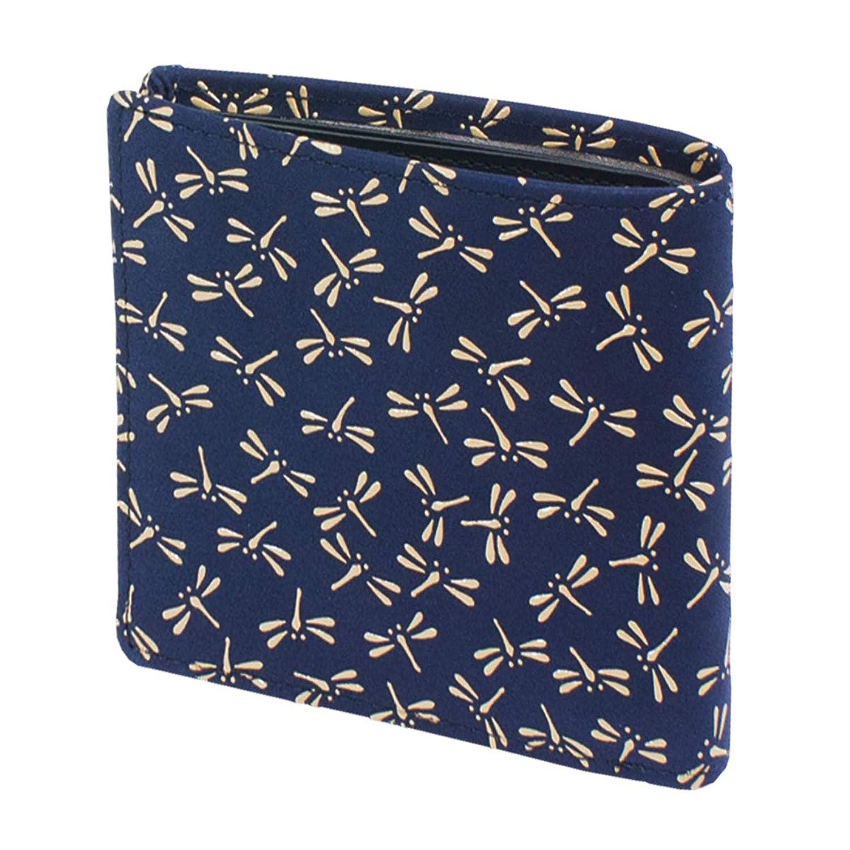 INDEN-YA 印傳屋 印伝 財布 二つ折り財布 メンズ 男性用 紺×白 とんぼ 2005-14-008